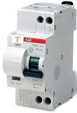ABB Автомат дифференциального тока ABB DS941 C40/0.3A тип АС (16020593)