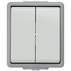 Siemens Выключатель двухклавишный Siemens GAMMA AP115/31, со встроенным BCU, лампой индикации (5WG1115-3AB31)
